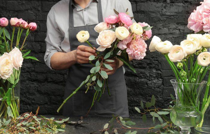 お花初心者さんも出来る花束の作り方